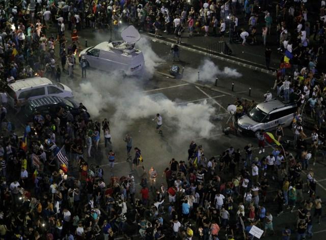 bukarest tüntetés
