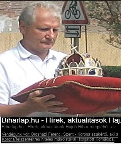 oroshazi szentkorona szakerto király